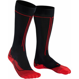 Falke Energizing Calze Donna, nero/rosso